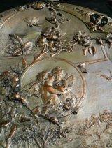 銅に銀メッキ フランス製の足付き大皿