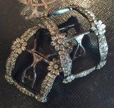 1800年初頭 ロココ フランス製 銀にガラスの靴用バックル