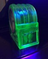 蝙蝠のレリーフのウランガラス 置時計