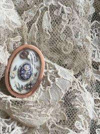 ジョージアン ジュエリー 金枠に象牙 ラピス 天然真珠 などが使われたヘアジュエリー ミクロの細工