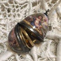 ハプスブルク ヴィエナエナメルの小さな卵型 ヴィネグレット