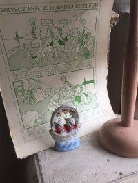 ドイツ アンティーク 二匹のブタのスーベニアと初期の漫画