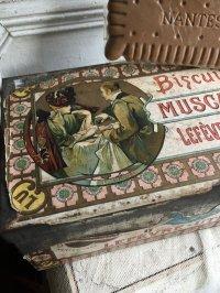 19世紀 アルフォンス ミュシャのリトグラフによるLU のビスケット缶